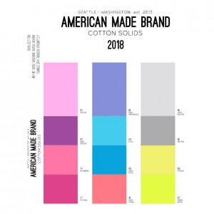 American Made Brand Color Card  - 12 Additional Colors